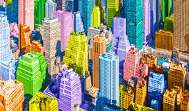 Colorful pop art styled New York City NYC Manhattan diverse diversity