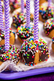 Colorful pop cakes desert close up Stock Photo