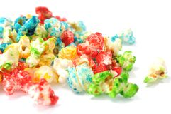 Colorful popcorn Stock Images