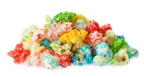 Colorful popcorn Stock Photo