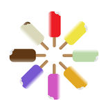 Colorful Popsicles. A collection of 8 colorful vector popsciles Stock Photography