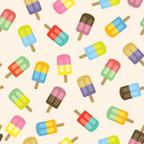 Colorful Popsicles Seamless Pattern. Vector Illustration Royalty Free Stock Photography