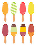 Colorful popsicles vector illustration Stock Photography