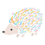 Colorful porcupine Royalty Free Stock Photo