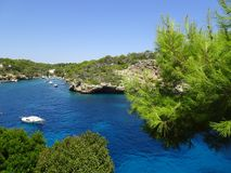 Colorful port Cala Figuera, Mallorca, Ballears Stock Image