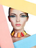 Colorful portrait of beauty Royalty Free Stock Photo