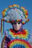 Colorful portrait at the carnival in Annecy, Royalty Free Stock Photo