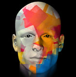 Colorful portrait illustration Royalty Free Stock Photos