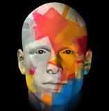 Colorful portrait illustration Royalty Free Stock Photos