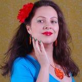 Colorful portrait about woman Stock Photos
