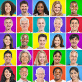 Colorful Portraits of Diverse People royalty free stock photo