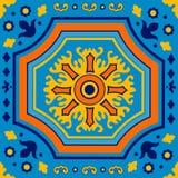 Colorful Portuguese azulejo tile Royalty Free Stock Image
