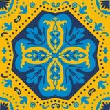 Colorful Portuguese azulejo tile Stock Images