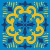 Colorful Portuguese azulejo tile Stock Image