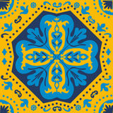 A colorful Portuguese azulejo tile Stock Image