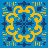 A colorful Portuguese azulejo tile Royalty Free Stock Image