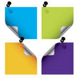Colorful post its Royalty Free Stock Photo