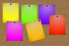 Colorful post-its Royalty Free Stock Photos
