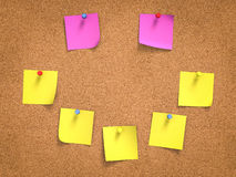 Colorful post its on board Stock Photos