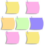 Colorful post it Royalty Free Stock Photos