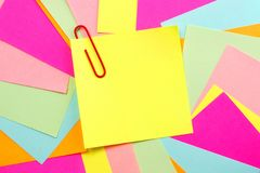 Colorful Post it Note Background Stock Photos