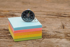Colorful post it note block Stock Photos