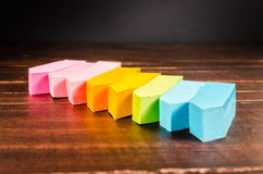 Colorful post it note Royalty Free Stock Image