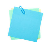 Colorful post-it notes with clip Stock Image