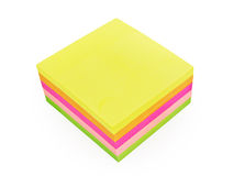 Colorful post-it notes isolated on white Royalty Free Stock Images