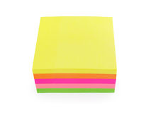 Colorful post-it notes isolated on white Stock Image