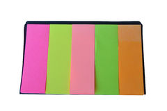 Colorful post it paper note on white background Royalty Free Stock Photography