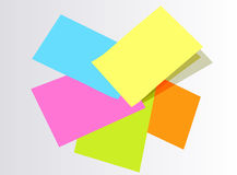 Colorful post it papers Royalty Free Stock Photography