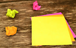 Colorful post it Stock Photography