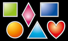Colorful Postage Stamps Stock Image