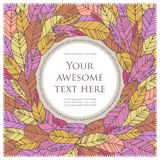Colorful postcard Royalty Free Stock Images