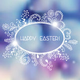Colorful postcard for Easter with hand drown frame Royalty Free Stock Photography
