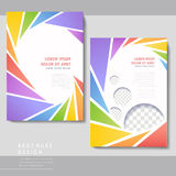 Colorful poster template design Stock Photography