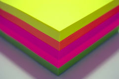 Colorful postit notes. A pad of colorful postit notes Royalty Free Stock Photos