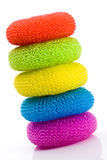 Colorful pot scrubbers Royalty Free Stock Photo