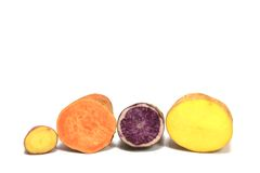 Colorful potatoes Stock Photo
