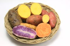 Colorful Potatoes Royalty Free Stock Images