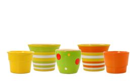 Colorful pots royalty free stock images