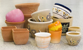 Colorful pots collection Stock Photography
