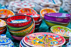 Colorful pottery Royalty Free Stock Photos