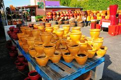 Colorful pottery, FL Stock Photography