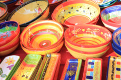 Colorful pottery. From the Provence, France Stock Photos