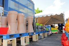 Colorful pottery in South Florida Royalty Free Stock Photography