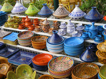 Colorful pottery. Tunisia. Stock Photos