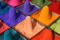 Colorful powder Stock Photo