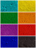 Colorful powder background. Collection od colorful powder background Stock Photo